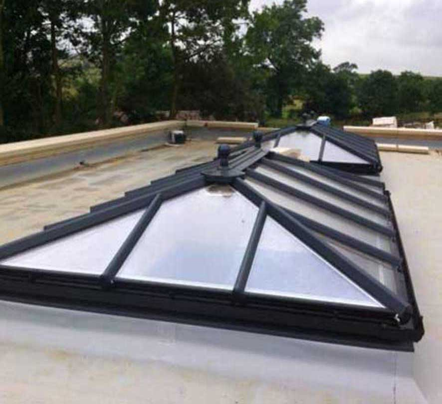 black conservatory roof
